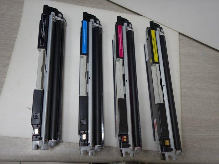 《含稅》全新HP 125A 黑/藍/黃/紅 (CB540A~CB543A)相容碳粉匣適用 CP1215 / 1518ni