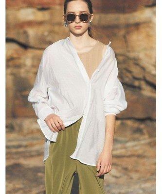 【WildLady】 特 日系寬鬆休閒排扣襯衫 薄款透感上衣Re:EDIT