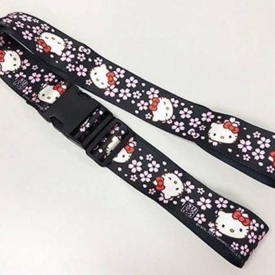 【東京速購】日本代購 三麗鷗 Hello Kitty 可調式 櫻花 行李綁帶 行李束帶