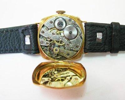 【藏家釋出】早期收藏 ◎  HAASNEVEUX 瑞士18K金古董錶 ◎ 手上鏈 ◎ 機芯漂亮行走順暢-688