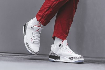 Jordan 3 Retro Free Throw Line White Cement 白色 爆裂文