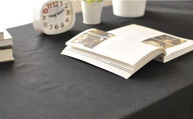 【#002 純黑色】多種尺寸的桌巾♣ 桌布♣ 圓桌巾♣方桌巾♣天然綿麻桌巾 黑布100*135cm 宅優物
