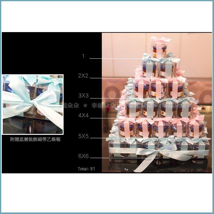 幸福朵朵【甜蜜蜜「透明盒裝」瑞士進口hero蜂蜜小禮盒 x 91盒 (Tiffany色+粉色緞帶)-送客婚禮小物