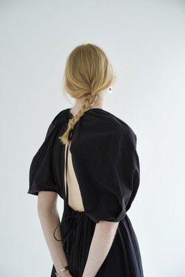 【預購】日本連線CLANE夏20再入荷BACK SCHOEN GATHER ONE PIECE法式露背綁帶花苞袖長洋裝