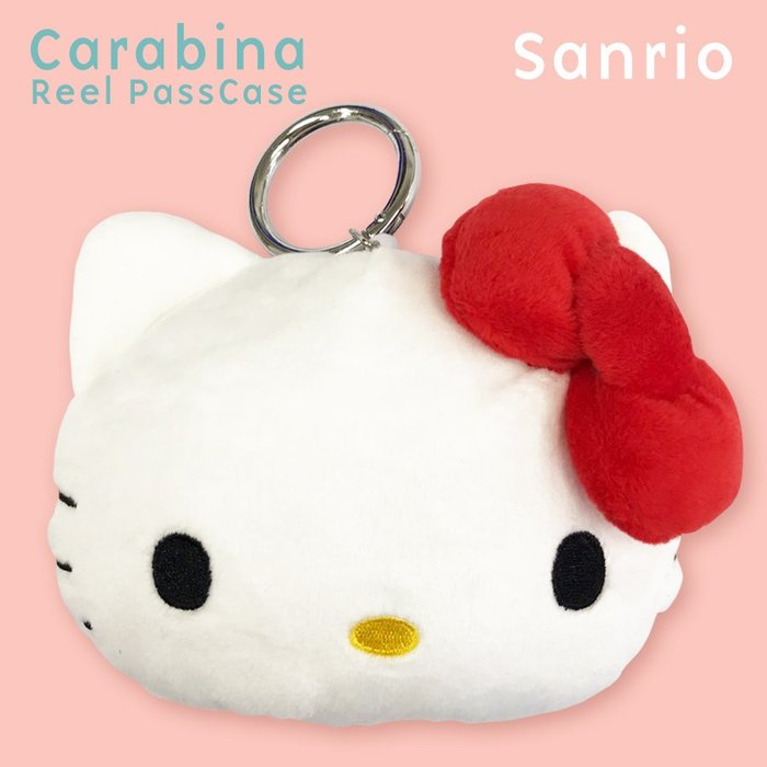 *Miki日本小舖* 日本㊣版三麗鷗kitty凱蒂貓絨毛可伸縮識別證/悠遊/ 證件套