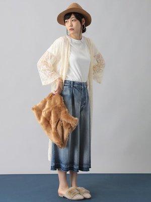 購於日本  透膚蕾絲長版外罩衫 - E hyphen world gallery 日幣3990+稅  KWT 2