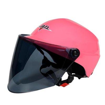 安全帽 摩托車頭盔男女電動車通用雙鏡片防曬防紫外線安全帽半盔 KB2867