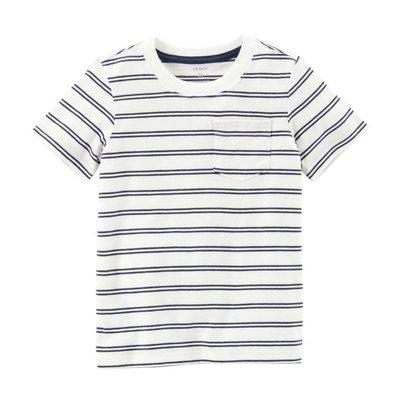【Carter's】CS男童短雙細藍條白 F03191003-17