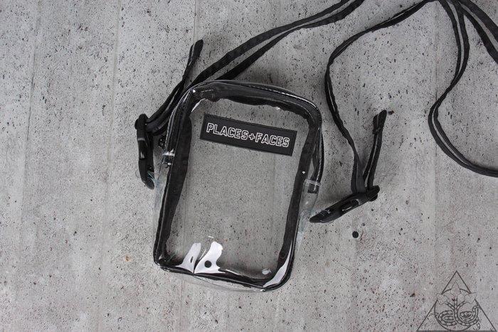【HYDRA】Places + Faces Pvc Side Bag 透明 小包 肩背包 【P+F04】