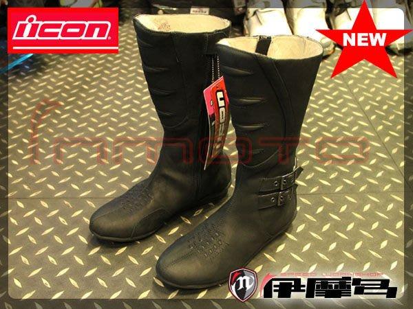 伊摩多※美國ICON SACRED TALL BOOT高筒女騎士靴 打擋專用 刷舊復古 黑 展示出清 US8