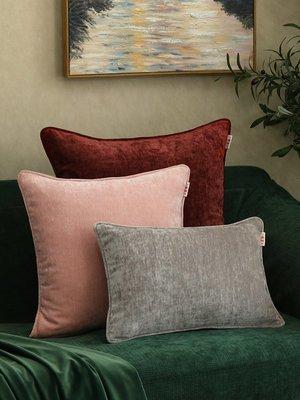 SUNNY雜貨-純素色絲絨抱枕靠墊家用辦公室汽車沙發護腰靠枕套美式簡約現代#防塵罩#家居用品