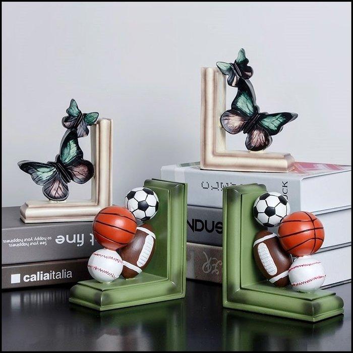 復古造型書檔 波麗製綠色足球棒球橄欖球籃球 送禮生日桌上型展示收納架畢業禮物父親節禮品收藏品【歐舍傢居】