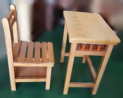 二手家具宏品 台中全新中古傢俱店 BN-AJE 石*庫存實木課桌椅 原木兒童寫字桌椅* 補習班桌椅 電腦桌