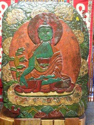 【準提坊】西藏石版,手工雕藥師佛+上彩