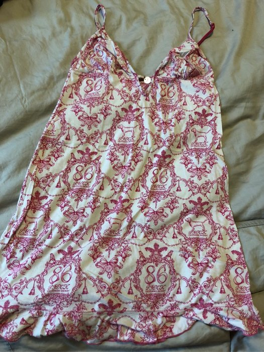 Victoria's Secret Pink 睡衣 連身裙 可調式肩帶