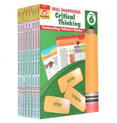 ﹝Heather﹞Skill Sharpeners Critical Thinking 8本練習本 加州教材 批判性思维