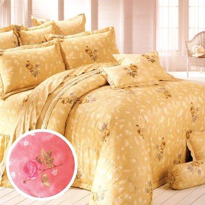 【Jenny Silk名床】玫瑰懷情.100%精梳棉.特大雙人床罩組全套.全程臺灣製造