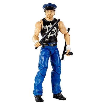 ☆阿Su倉庫☆WWE摔角 Dean Ambrose Elite 41 Figure 精華版人偶附警帽及警棍 熱賣特價中