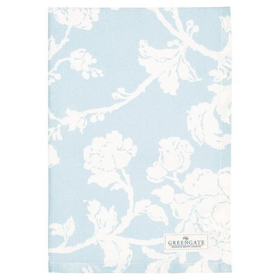 GreenGate Tea Towel Ingird Pale Blue