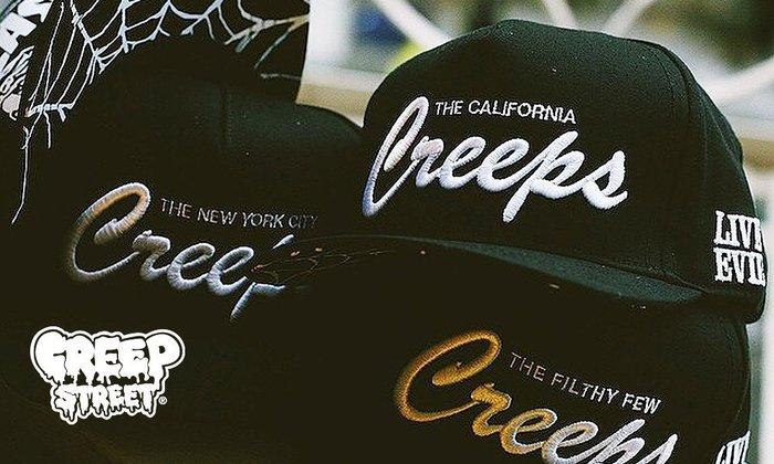 GOODFORIT / 美國驚悚Creep Street FILTHY FEW Snapback立體凸繡/蜘蛛網帽簷