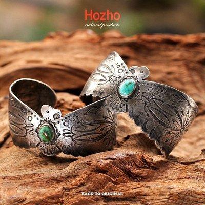 Back to Original【Hozho】老品的氛圍 日本匠人手打 Thunderbird 大雷鳥松石手環