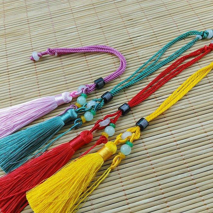 檀木玉珠手把繩 編織文玩掛件繩子翡翠玉器把玩手繩車鑰匙掛繩(220元以上發貨,購買數量,規格不同價格不同
