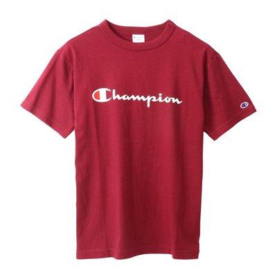 [CABAS滑板店] CHAMPION CLASSIC LOGO TEE 酒紅 │草寫 經典LOGO 短T 短袖