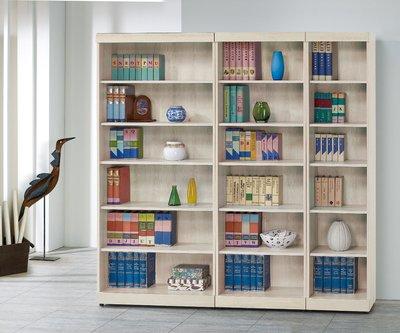 【南洋風休閒傢俱】書架 書櫃 書櫥 展示櫃 收納櫃 造形櫃 置物櫃系列-白栓木3*6尺開放書櫃CY412-823