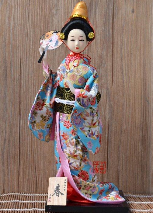 掛畫 壁畫 手工娟人 日本娃娃 日本人偶 禮品手工藝品 實物拍攝12寸日本人形
