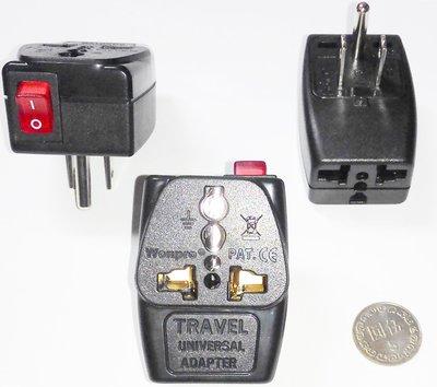 9#5台灣220V冷氣萬用1變2轉接頭,11平行 帶開關,10A,1分2轉接插頭 轉換2插座,適220V家電