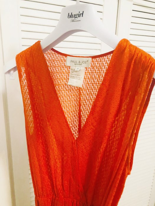 Paul & Joe 橘紅色洋裝