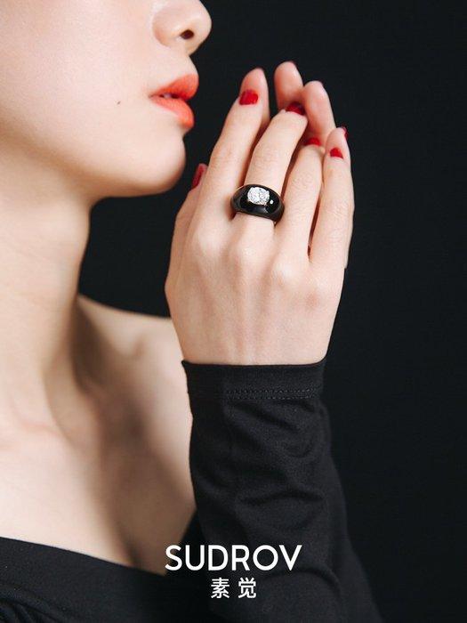FEI日韓代購~素覺原創輕奢小眾設計夸張大戒指個性關節指環女時尚大氣食指戒