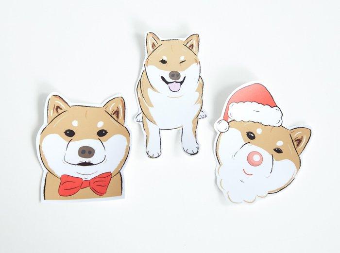 小飯糰 柴柴大型防水貼紙 No.7 柴犬 行李箱貼紙