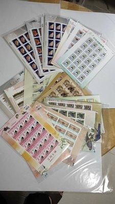 台灣郵政小版張,含特503,507,509,510,511,512,514,522,(2616) 全品