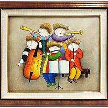 ☆【御品畫廊】☆手繪童樂音樂人物童玩油畫擋電箱油畫77X67公分含框每幅1999元
