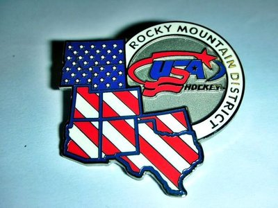 T.全新附袋USA HOCKEY WORDMARK & LOGO美國曲棍球文字商標與LOGO勳章/徽章/紀念章!