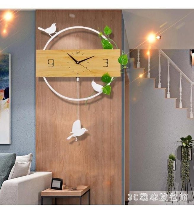 ✿歐拉部落✿掛鐘 創意鐘表掛鐘掛表客廳現代簡約式大氣裝飾靜音個性居家用時鐘LDB68