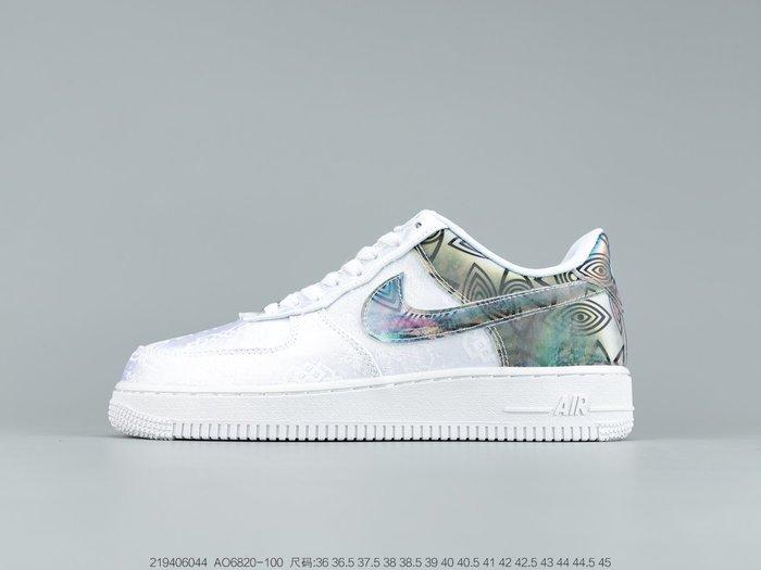 耐克Nike Air Force 1 Low Silk 聯名款絲綢白 低幫休閒板鞋 男女運動鞋 跑步鞋 小白鞋