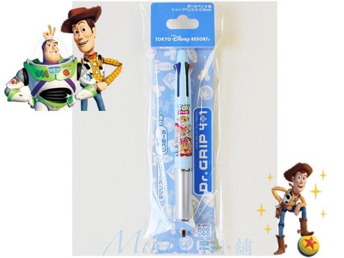 *Miki日本小舖*日本東京迪士尼玩具總動員TOY STORY 四色油性原子筆+自動筆