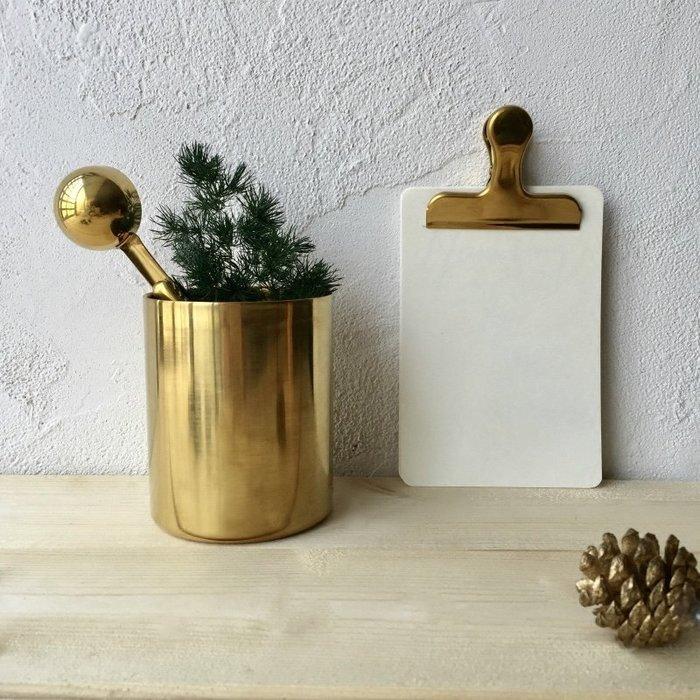 MAJ.POINT-收納罐 花器 創意文具 黃銅 化妝筆筒 漱口杯 ZAKKA雜貨 北歐 生活居家佈置陳列 商品代購