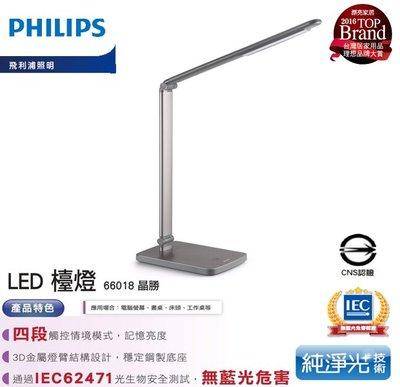 ※便利購※附發票 利浦經銷商 Philips 飛利浦 晶勝 LED 檯燈4段亮度調光 學生 護眼檯燈 66018