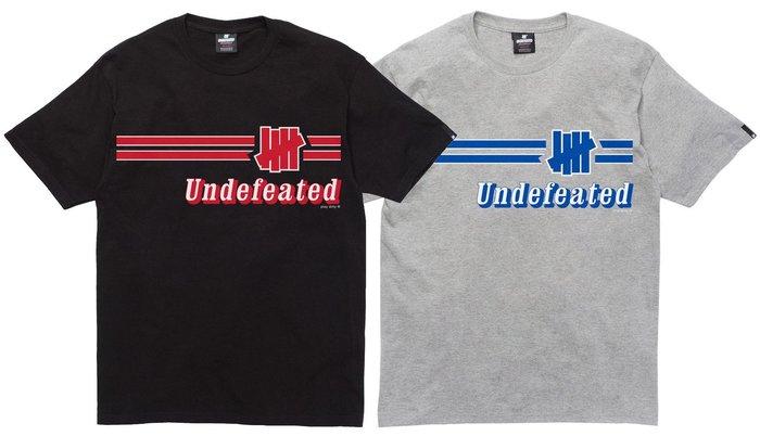 【超搶手】全新正品 2015 最新 UNDEFEATED WARMUP TEE 柵欄 字體 黑白灰 S M L XL