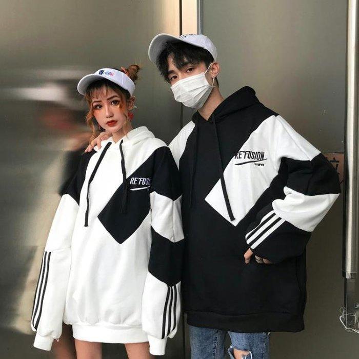 情侶裝 秋裝新款韓版bf風套頭冬季衛衣學生班服套裝慵懶風