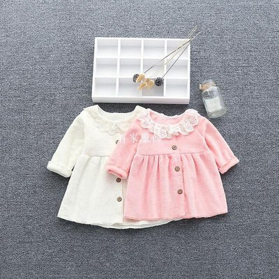 有家服飾七女嬰兒衣服春裝洋氣外套裝加絨連身裙0一1歲男寶寶春裝
