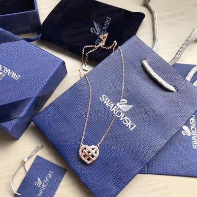 【菲比代購&歐美精品代購專家】SWAROVSKI 施華洛世奇 螺旋型 愛心 玫瑰金項鏈 透明閃亮水鑽 氣質迷人