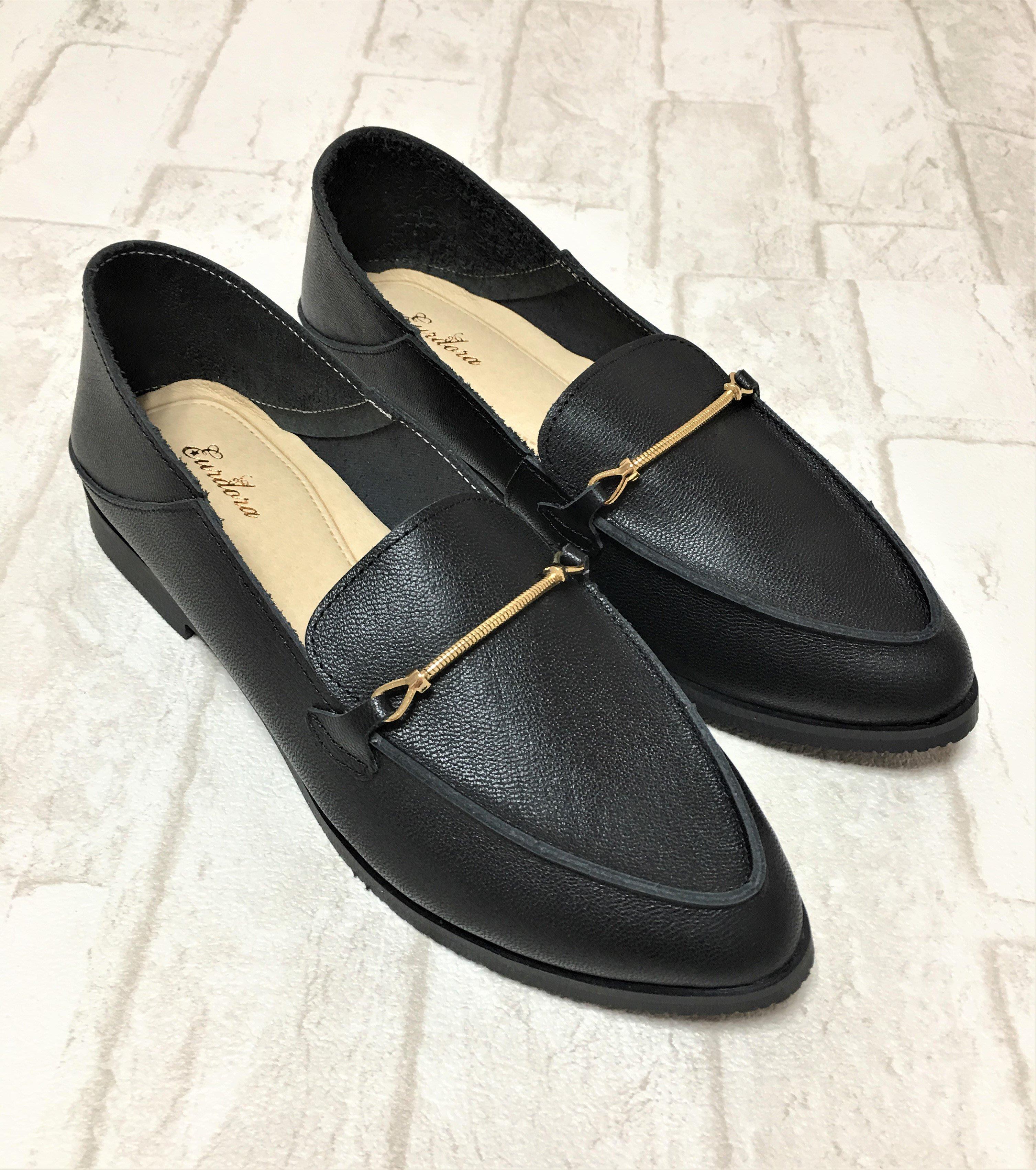 現貨出清~台灣手工製 全真牛皮休閒鞋–黑色 131930-1   米蘭風情