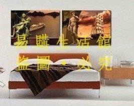 [王哥廠家直销]人物時尚掛畫兩聯畫/現代簡約臥室裝飾畫/歐式家居無框畫抽象壁畫LeGou_1169_1169