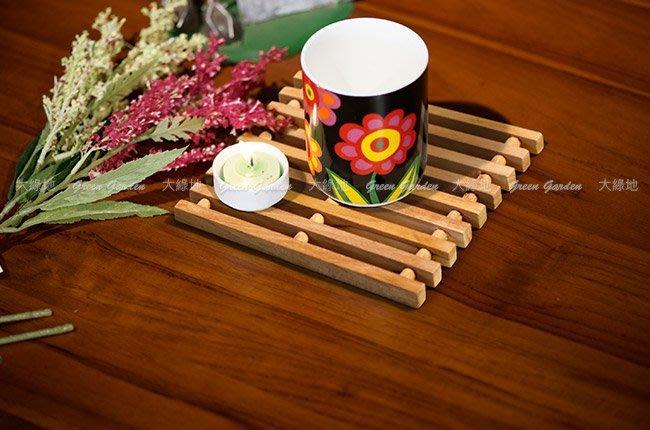 柚木 隔熱墊(8入)【大綠地家具】100%印尼柚木實木/餐墊/杯墊/鍋墊/木隔熱墊