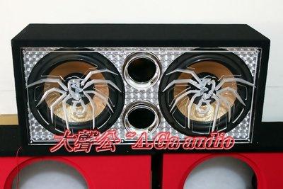 全新雙12吋1000瓦蜘蛛壓克力重低音組-超低價出售~