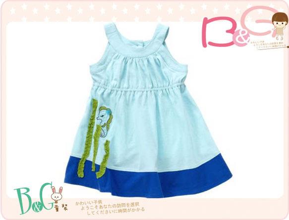 【B& G童裝】正品美國進口Crazy8海馬圖樣天藍色背心裙3,5yrs